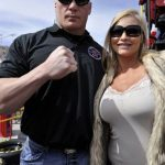 Brock Lesnar with wife Sable