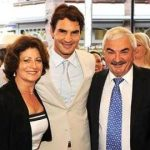 roger federer with parents