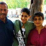 Ashwini Ponnappa with Parents