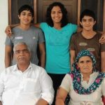 Babita Kumari with her parents and siblings