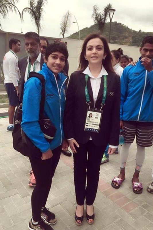 Babita Phogat Snapped with Nita Ambani at Rio Olympics 2016