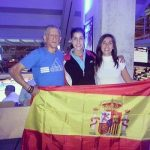 Carolina Marin with Parents