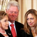 Chelsea Clinton with her parents