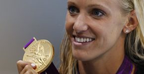 Dana-Vollmer with her Gold medal