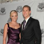 Dana Vollmer with her husband Andy Grant