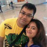 Debina Bonnerjee brother Amitava Bonnerjee and sister-in-law Pinal Shah