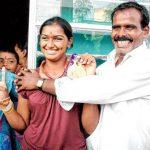Deepika Kumari with her father