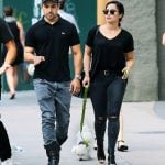 Demi Lavato on a stroll with Wilmer Valderrama