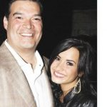 Demi Lavato with her dad Patrick Martin Lavato