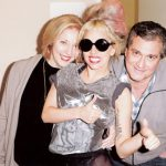 Gaga with her parents