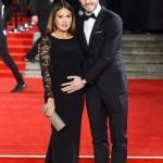Gareth with pregnant wife Emma