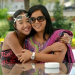 Gaurika Singh with her mother