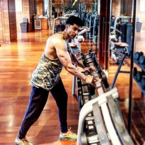 Gurmeet Choudhary at Gym