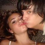 Jonathan Frayr with Demi Lavato