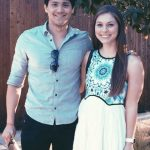 Joseph Schooling with his girlfriend