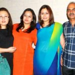 Jwala Gutta with her parents and younger sister