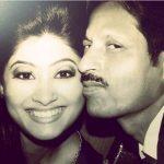 Krishna Mukherjee with her father