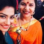Krishna Mukherjee with her mother