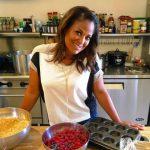 Laila Ali in kitchen
