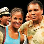 Laila Ali with her father