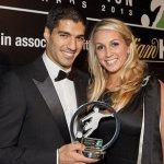 Luis Suarez with his wife Sofia
