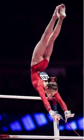 Madison Kocian in action