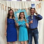 Madison with her parents on their anniversary