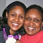 Maya Moore with Mother