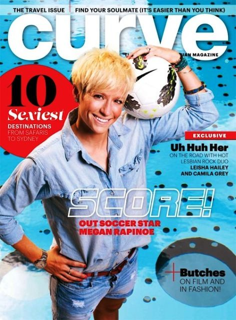 Megan Rapinoe on the cover of Curve Magazine