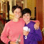 Megan Rapinoe with her twin sister Rachel
