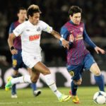 Neymar for Santos FC (left) - Lionel Messi for FC Barcelona (right)
