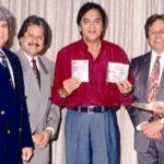 Pankaj Udhas wiith his brothers and Sunil Dutt