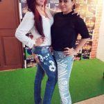 Preeti Simoes with her sister