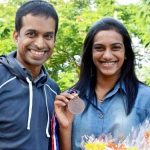 Pullela Gopichand with P. V. Sindhu