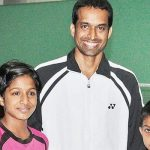 Pullela Gopichand with his children