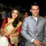 Ramya with her boyfriend