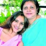 Ramya with her mother