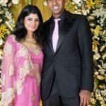 Rohan Bopanna with his wife