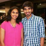 Srikanth Kidambi with his younger sister, Ruthvika