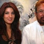 Twinkle Khanna with her father Rajesh Khanna