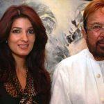 Twinkle Khanna with her father Rajesh Khanna