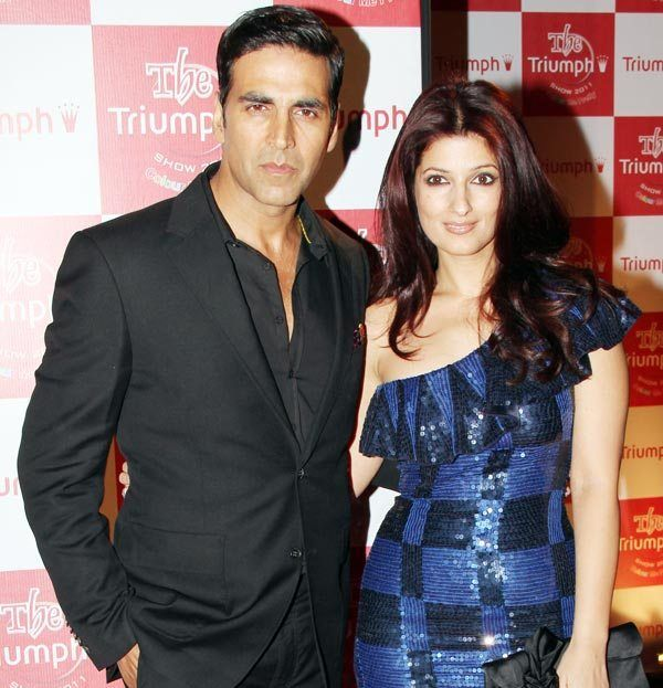 Akshay Kumar with his wife