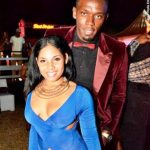 Usain Bolt with her girlfriend Kasi Bennet