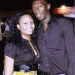 Usain Bolt with his Ex-girlfriend Mizicann Evans