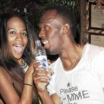 Usain Bolt with his girlfriend April