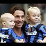 Zlatan with his children