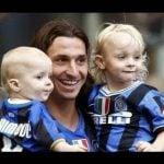 Zlatan with his children