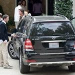 Affleck with Mercedes GL350