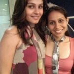 Andrea Jeremiah with younger sister