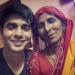 Ansh Bagri with his mother